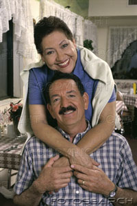 Hispanic boomer couple