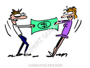 A money fight