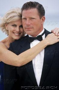 Boomer couple tuxedo & gown