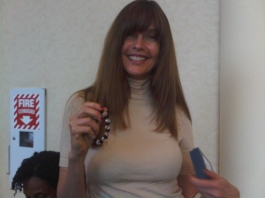 Carol Alt Loves Her Shining Service Bracelet by Linda Franklin The Real Cougar Woman