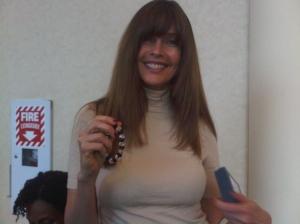 Carol Alt Loves Her Shining Service Bracelet by Linda Franklin The Real Cougar Woman