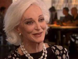 Carmen Dell'Orefice - Is Living Large at 81 Linda Franklin. The Real Cougar Woman